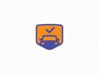 Safe Auto Car Dealer Graphic Symbol