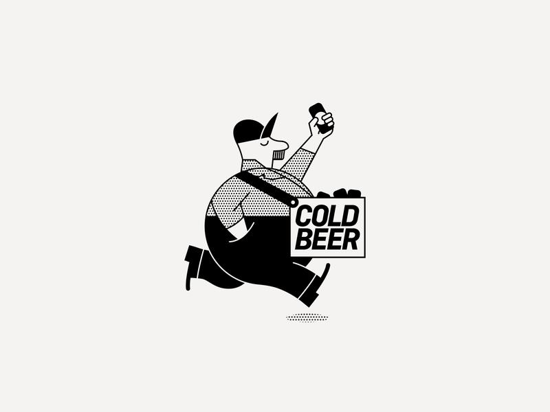 ---9/52--- Miller Park beer baseball character design retro branding illustration vector design