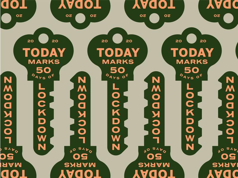 Lockdown vintage sign key vintage pattern badge retro type illustration typography vector design
