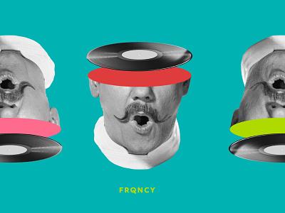 FRQNCY Branding brand identity design brand assets quirky vintage brand identity branding retro illustration vector design