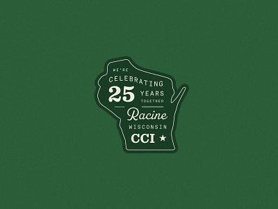 CCI carpentry woodworking wisconsin branding badge type retro illustration typography vector design