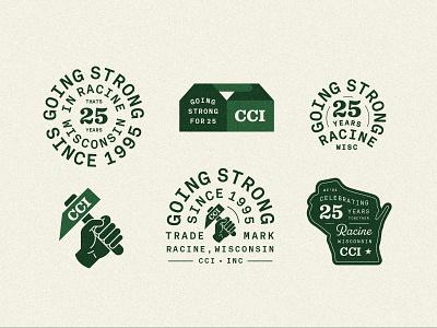 CCI 2 wisconsin woodworking carpentry vintage branding badge type retro illustration typography vector design