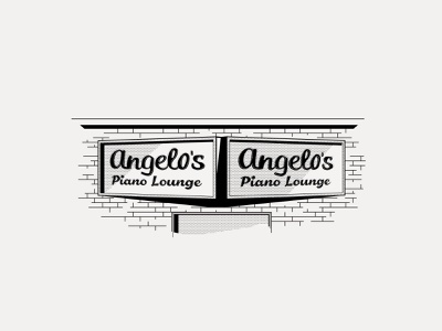 ---31/52--- Angelo's technical drawing vintage sign vintage black and white retro illustration typography vector design