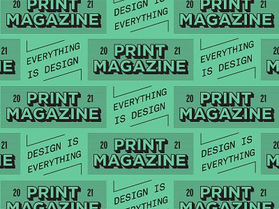 Print Magazine pattern editorial vintage branding badge type retro typography vector design