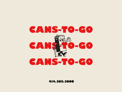 Cans To Go bold font character design brand identity identity design idenity vintage branding type retro illustration typography vector design