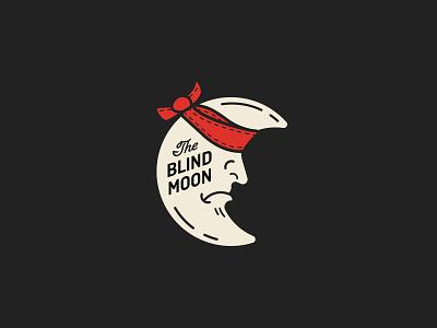 Blind Moon dark moon vintage badge type retro illustration typography vector design