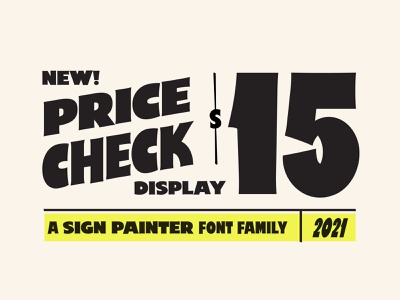 Price Check - Sign Painter Font fontself typography design font design font type design creative market type retro typography vector design