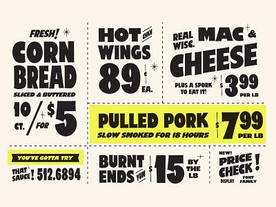 Price Check - Sign Painter Font sale price tabloids supermarket grocery creative market vintage branding type retro typography vector design