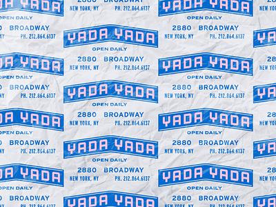 Yada Yada marquee seinfeld pattern vintage branding badge type retro typography vector design