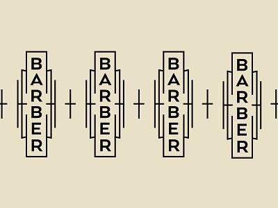 Dapper Barbershop mid century barber art deco barbershop branding badge type retro typography vector design