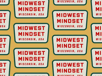 Midwest Mindset embroidery patch hat apparel badge type retro typography vector design