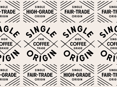 Single Origin coffee packaging coffee branding coffee branding badge type typography vector design