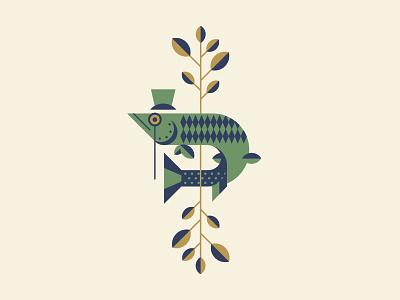 Monocle Musky branding logo design vector illustration