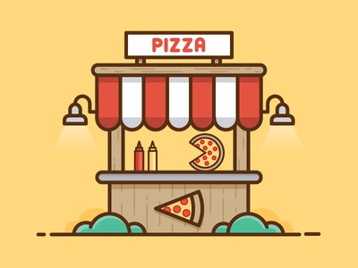 Pizza Stand 365 daily challenge stand pizza icon vector