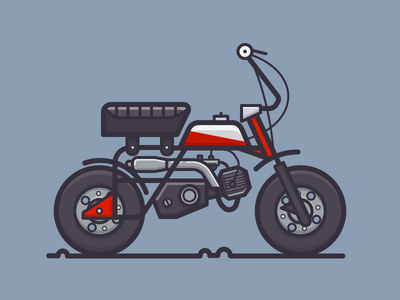 Honda Mini Bike motorbike honda motorcycle daily challenge outline icon vector