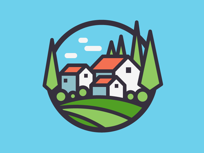 Italy country europe italy house home thick stroke outline vector icon