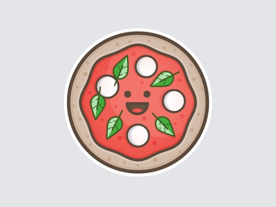 Pizza Forever 🍕 cheese basil pizza turkey day thanksgiving food design rebound playoff contest stickers sticker mule