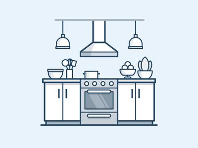 Kitchen Icon by Scott Tusk - Dribbble