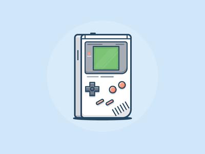 Gameboy! controller game video nintendo icon daily challenge vector
