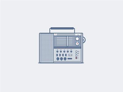 Braun Portable Radio dieter rams radio icon daily challenge vector