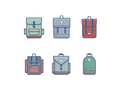 Backpack Icons icon daily challenge vector