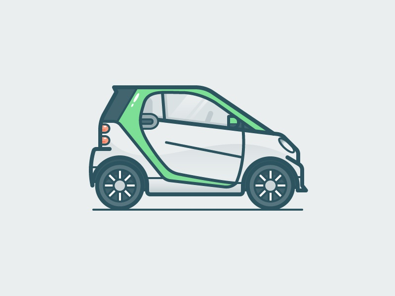 Smart car illustration icon vector
