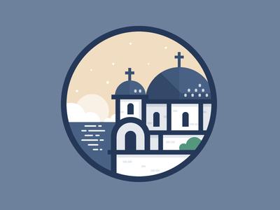 Greece house building illustration icon vector