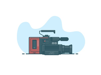 JVC Camcorder electronics recorder analog camera tech illustration icon vector