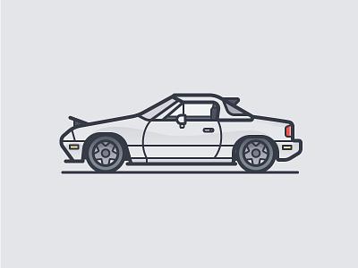 Miata auto mazda car icon illustration vector