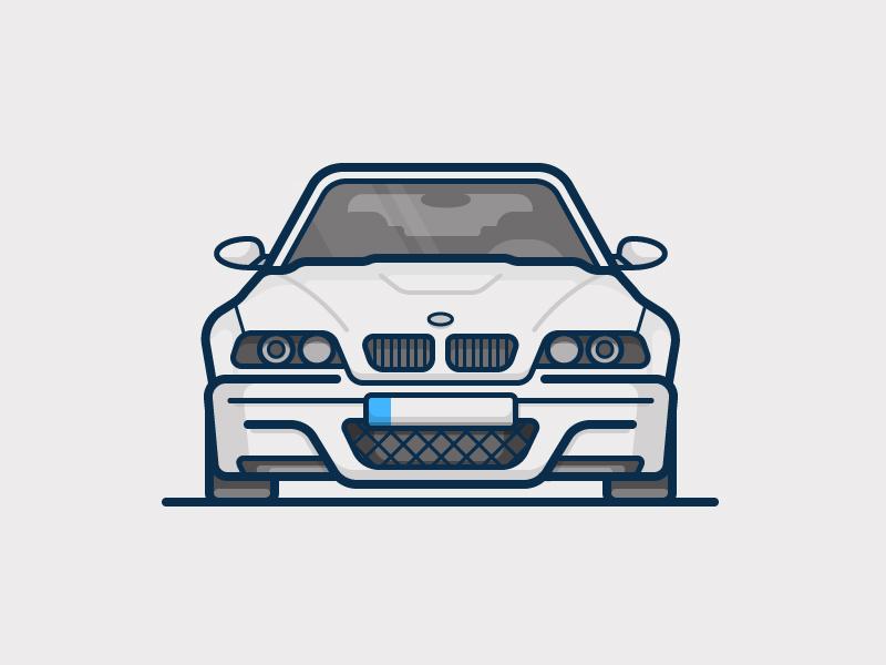 M3 bmw auto car illustration icon vector