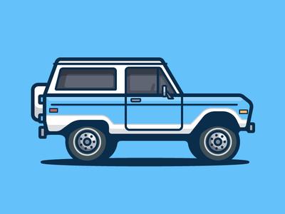 Bronco ford truck auto car illustration icon vector