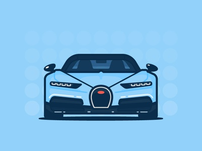 Bugatti auto car illustration icon vector