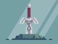 Link's sword at rest