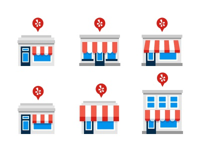 Business Explorations illustration icon storefront store business house