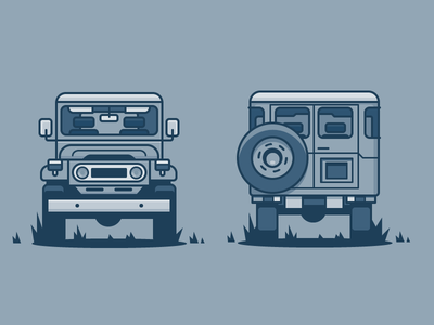 Land Cruiser icon illustration vehicle toyota truck car
