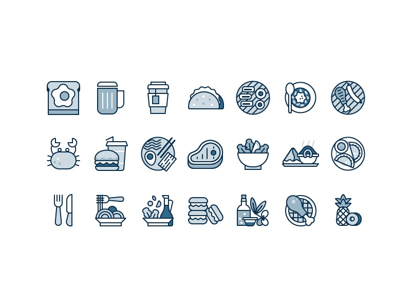Food Icons by Scott Tusk for Yelp Design