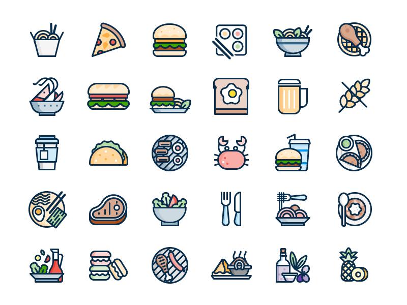 Food Icons snacks food icon
