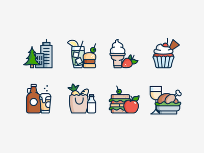 More Food Icons sandwich drink beer burger snacks food icon