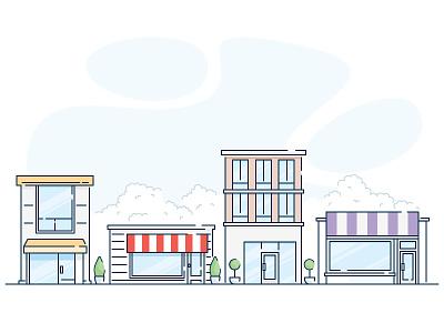 Cityscape city building illustration icon