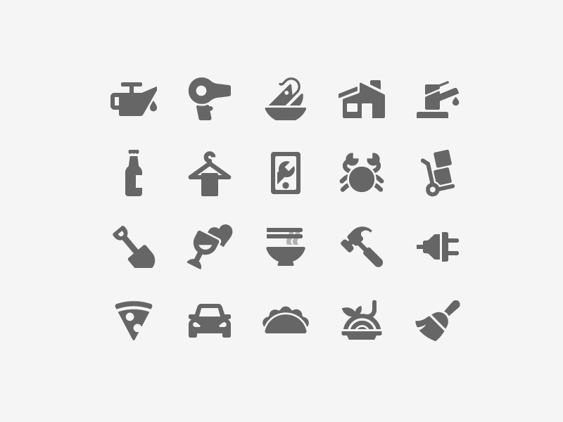 Ux Icons home house car daily challenge vector illustration icon