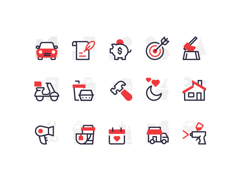 Category Icons ui illustration vector icon