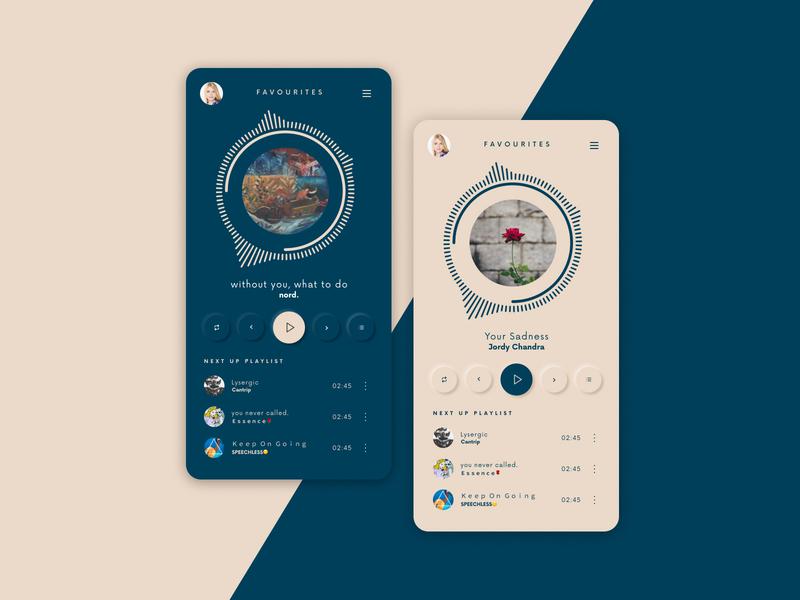 Daily UI - Music App figma design app dailyui dark dark theme dark ui ux ui neomorphic colorful minimal