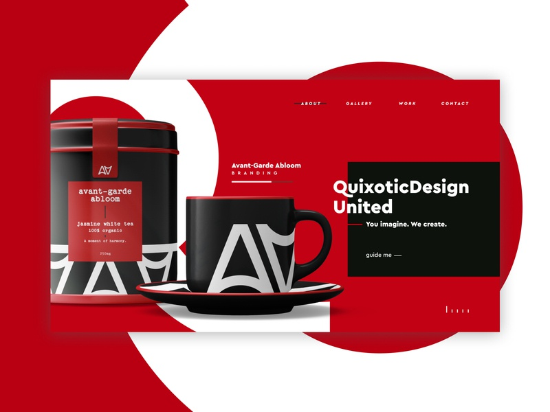 QuixoticDesign United | Design Company Website uidesign color typography branding dark theme minimal figma design ux ui