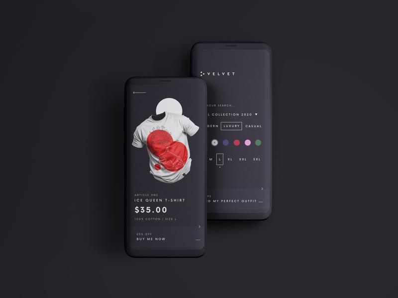Velvet illustration dailyui dark dark ui dark theme minimal figma design ux ui