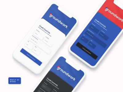 Daily UI 002 - Credit Card Info Design
