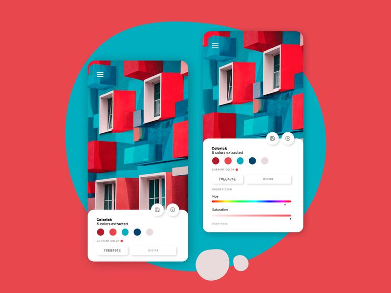 Colorick - Color Picker App Daily UI dailyui app design app figma design ux ui colors color