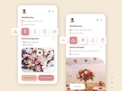 Wedding Planner - Crest minimal branding app dailyui color figma design pastel wedding ux ui