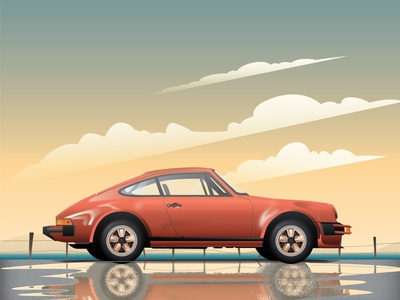 Porsche Illustration poster porsche artwork porsche 911 colors artwork vector car illustration illustration graphic gradient