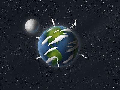 EARTH DAY grain design artwork gradient illustration earth day green world earthday earth