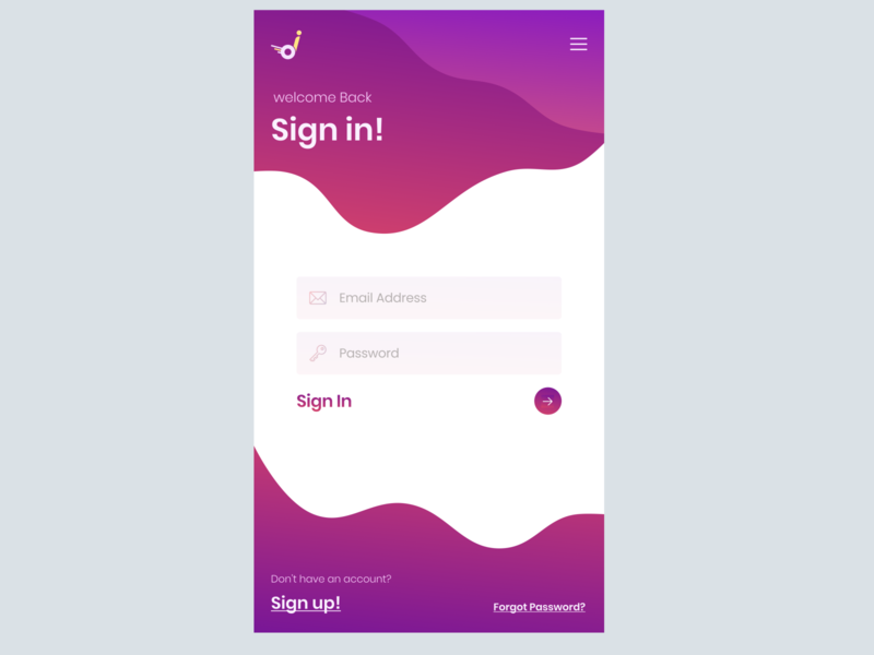 mobile sign in page design ux ui